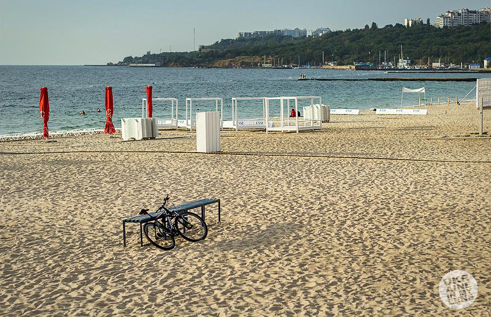 Утренний одесский пляж