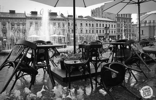 Черно-белые фотографии Львова