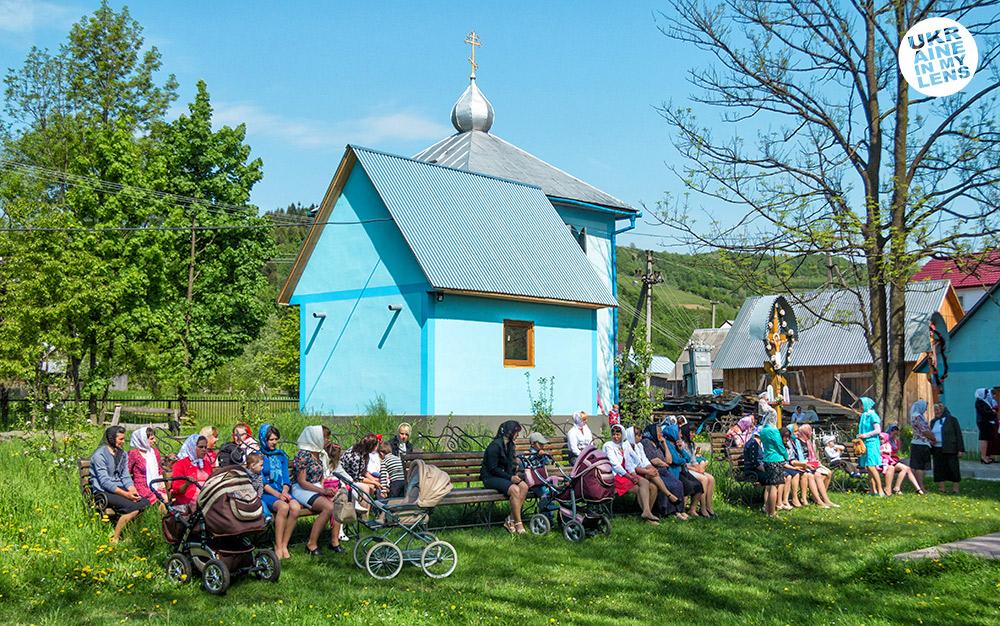 Успенская церковь села Синевир. Прихожане