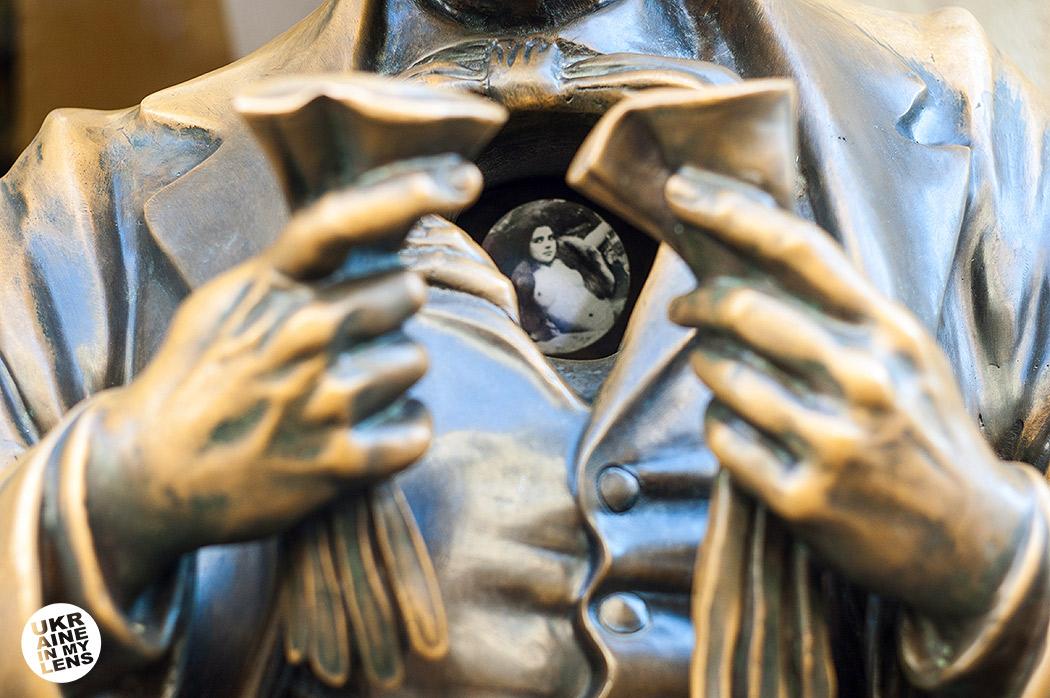 Памятник Леопольду Мазоху во Львове
