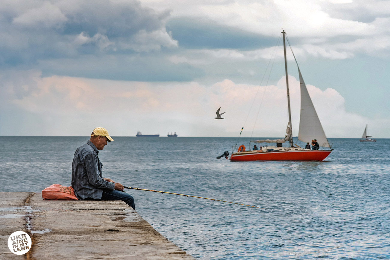 Фото Одессы 2018. Перед штормом на море