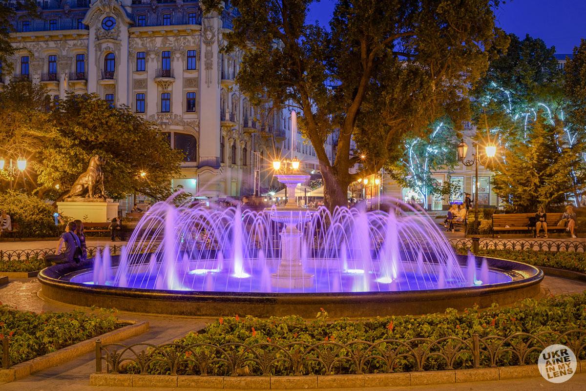 Вечерний Городской сад в Одессе.