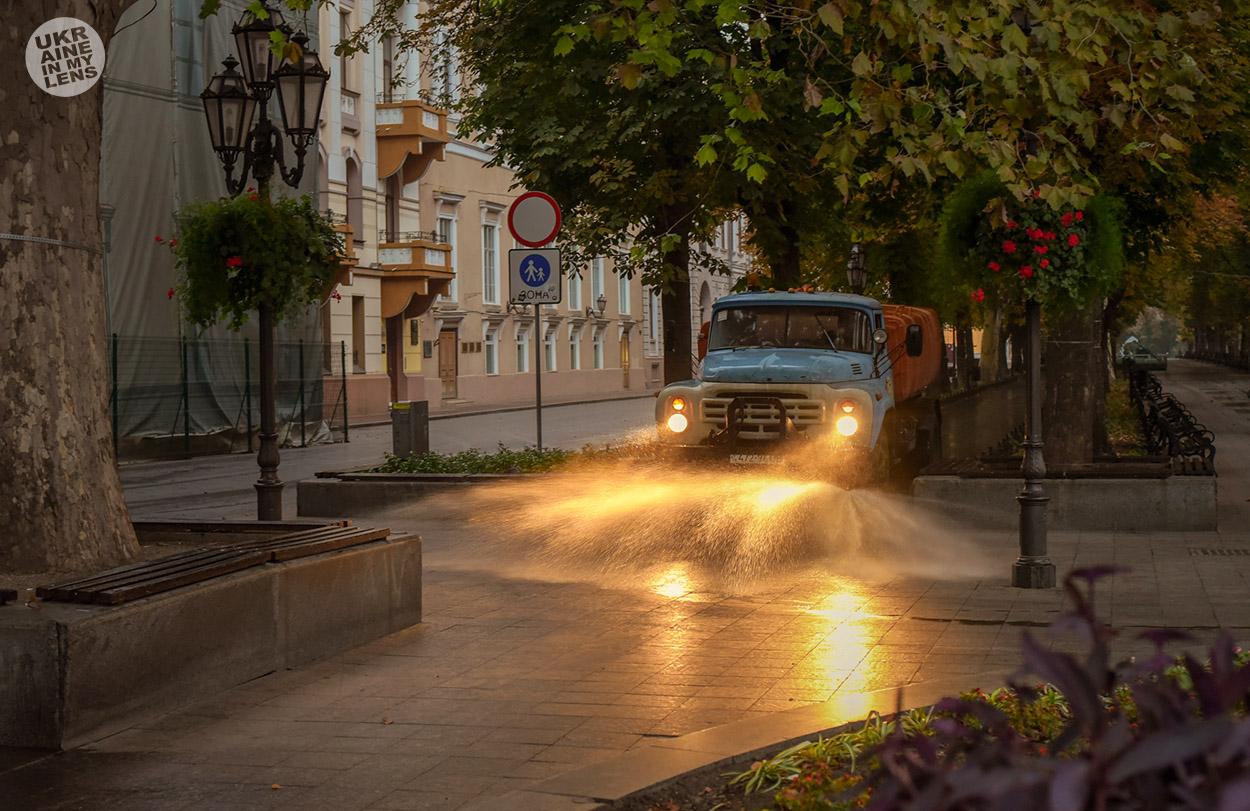 Утренний Приморский бульвар в Одессе