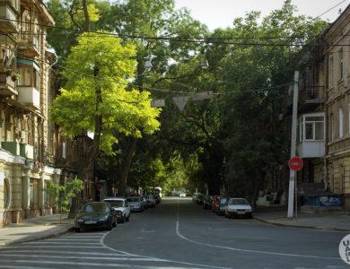 Начало улицы Лейтенанта Шмидта в Одессе