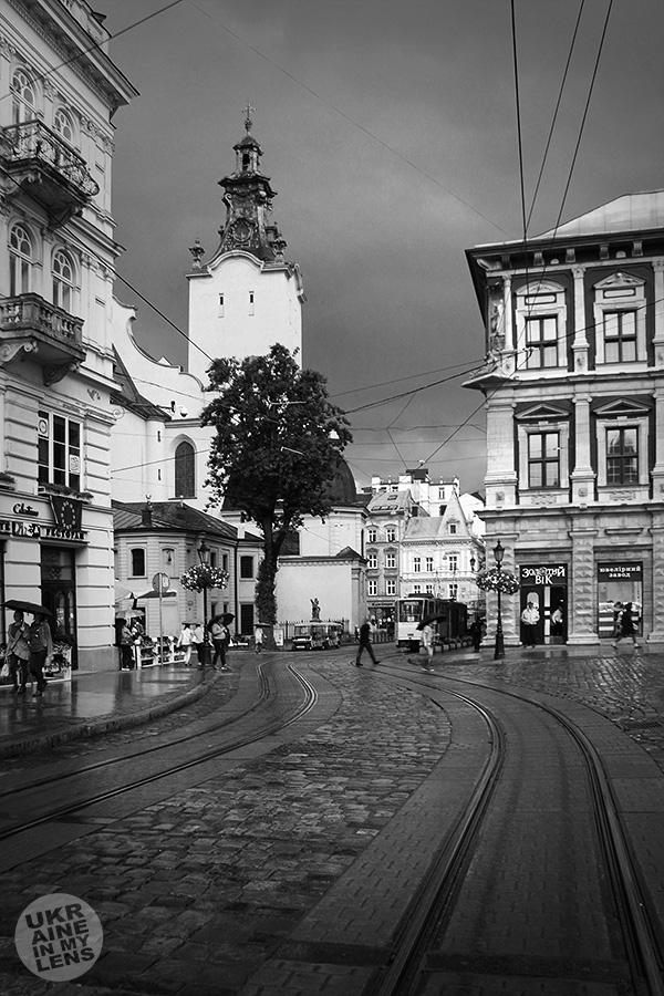 В центре Львова после майского ливня
